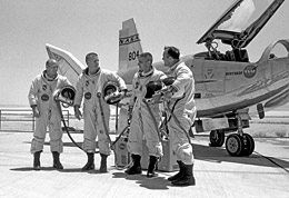 HL-10 pilots Jerauld Gentry, Peter Hoag, John Manke and Bill Dana