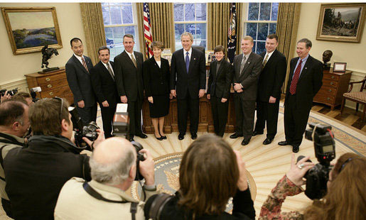 STS-114 Crew at White House