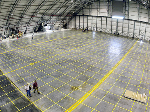 The inside of the RLV Hangar at KSC.