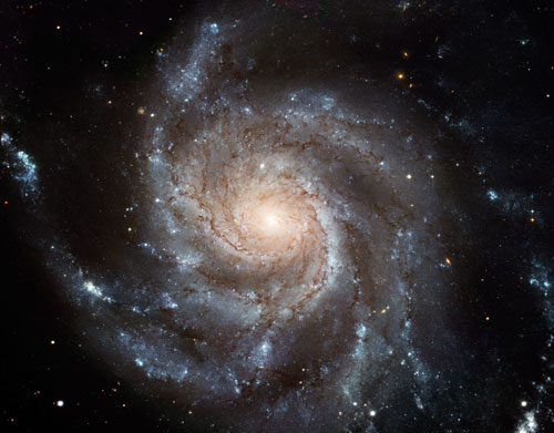 High definition image of the Spiral M10 galaxy taken by the Hubble Space Telescope.