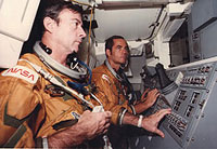 STS-1 Commander John Young and Pilot Robert Crippen