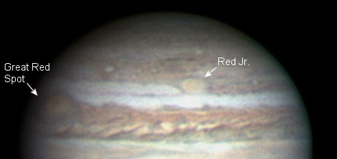 Red spots on Jupiter