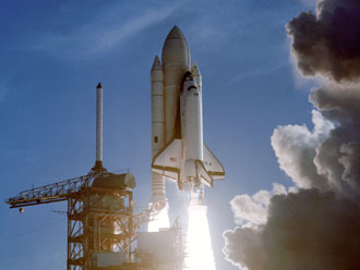 STS-1 launches on April 12, 1981
