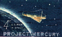 U.S. Postal Service stamp commemorating the Mercury program