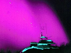 Intense auroras over Fairbanks, Alaska, in 1958.