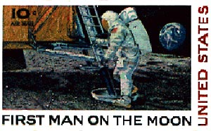 Man on the Moon commemorative stamp