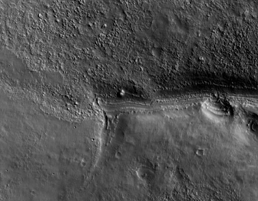 one of first images of Mars from Mars Reconnaissance Orbiter