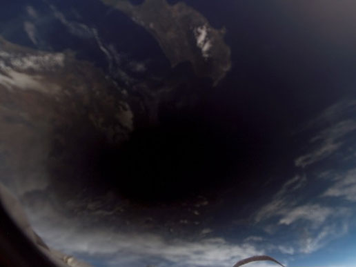 Eclipse seen from ISS