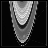 This image provides broad context within the rings, and shows the B ring, Cassini Division, A ring and F ring.