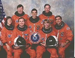 The crew portrait for STS-83