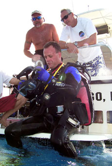 Ron Garan prepares to dive