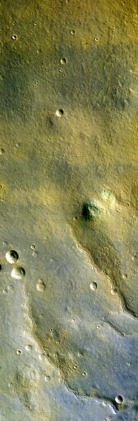 first color image of Mars from the High Resolution Imaging Science Experiment on NASA's Mars Reconnaissance Orbiter