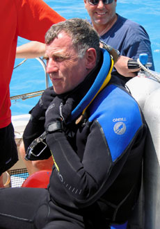 Dave Williams trains for NEEMO 9