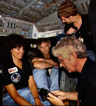 Crew training for mission STS-41D.