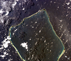 The Tuamotu Islands in the South Pacific Ocean