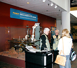 Museum Galaxy Guides interact with visitors