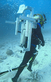 JSC2006-E-13624 -- A NEEMO-9 crewmember participates in a session of extravehicular activity.