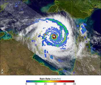 TRMM image of Tropical Cyclone Monica from April 26, 2006.