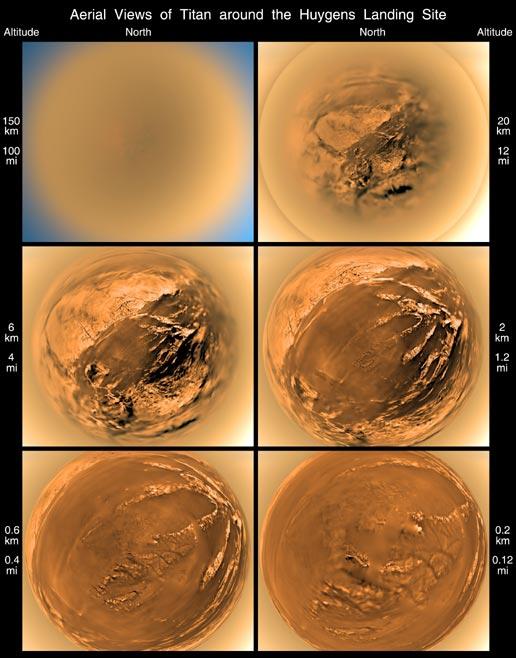 Titan Moon Surface View of Titan 39 s Surface