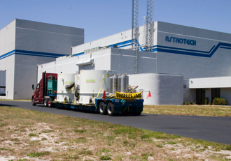 The STEREO spacecraft arrive at Astrotech in Florida