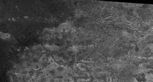 Image of Titan taken during a flyby