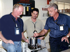 Jeff Morris, Steve Holihan and Larry Taylor at the Ordnance Storage Facility