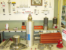 Samples of some of the explosive devices that are on the space shuttle