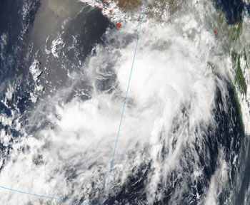 Eastern Pacific's first tropical storm, Aletta.