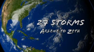 27 Storms. Arlene to Zeta.