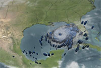 TRMM Data from Hurricane Rita