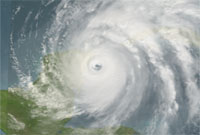 Image of the progression of Hurricane Wilma