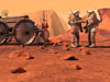 Artist concept of a human outpost on Mars