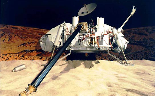 Viking lander on Mars, artist concept