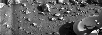 Viking 1 lander first image from Mars surface
