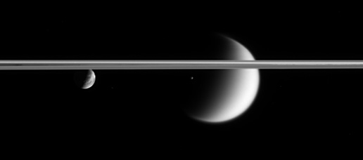 Epimetheus, Titan and Dione