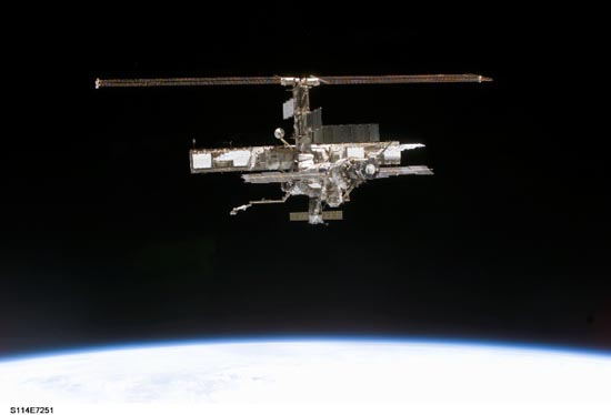 ISS on orbit in 2005