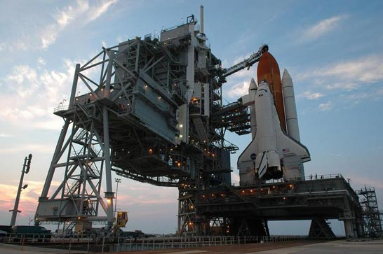 Space Shuttle Discovery on Launch Pad 39B