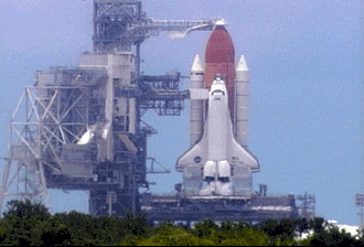 Shuttle on pad