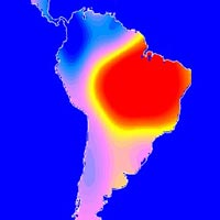 map of South America using Grace data