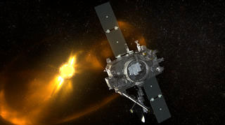 Spacecraft animation w/ CME