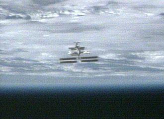 Vista de la Estación Espacial Internacional desde el Discovery. NASA