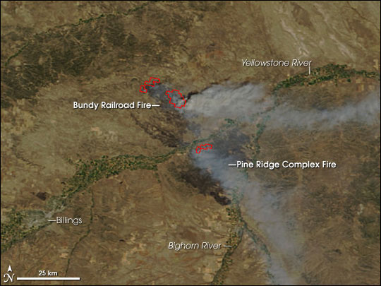 Image of the Wyoming/Nevada fire
