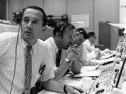 Mission Control during the Apollo 11 descent.