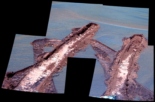 Peering at Pesky 'Jammerbugt' (False Color)
