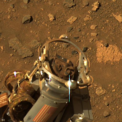 Rock Abrasion Tool Exhibits the Deep Red Pigment of Mars