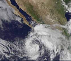 Image of Tropical Storm Emilia.