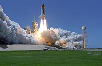 Discovery launches from Kennedy Space Center on Mission STS-121, July 4, 2006.