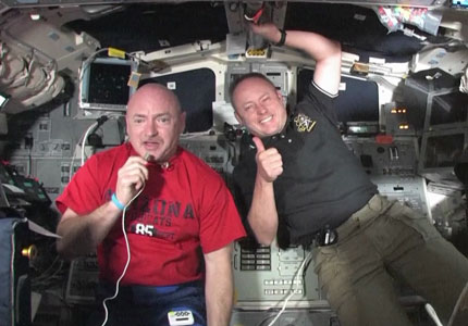 Commander Mark Kelly and Mission Specialist Mike Fincke