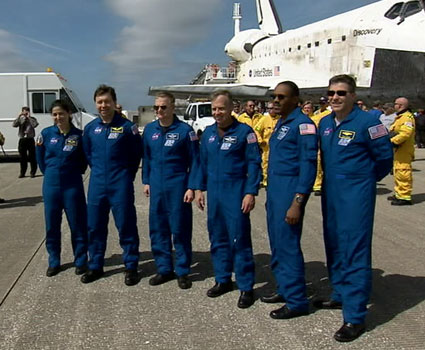 The crew of STS-133.
