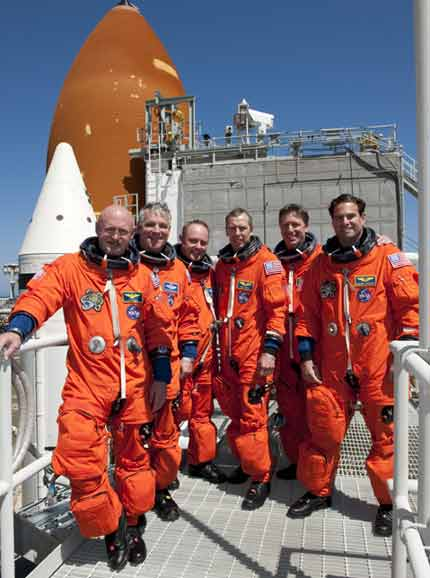 STS-134 crew on Launch Pad 39A